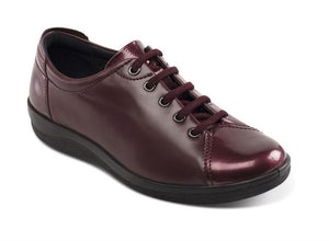 Padders 226 Galaxy 2 Wine Combi Leather Wide Fitting Lace-Up