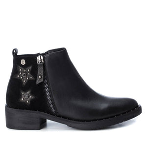 Carmela 66966 Black Leather Zip Up Ankle Boots - elevate your sole