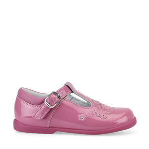 Start-Rite Sunshine 1479-6 Girls Dusty  Pink Glitter Patent  Pre School Shoes
