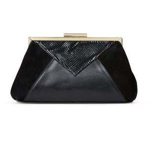 Van Dal Patchwork 3190 Ladies 1001 Black Leather Feature Clutch Bag
