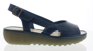 Fly Elfe 848 Ladies Blue Leather Sandal