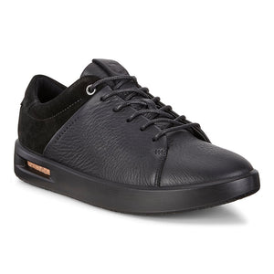 Ecco 271183 Corksphere 1 Black Ladies Leather Lace-Up Trainers - elevate your sole