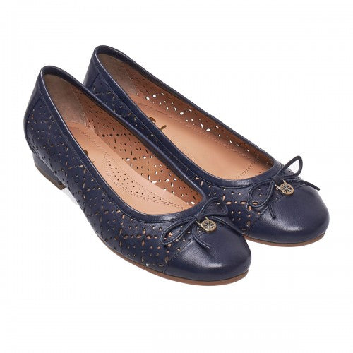 Van Dal Wentworth Navy Leather Summer Pumps - elevate your sole
