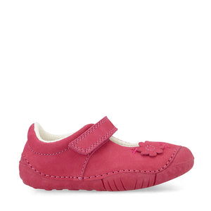 Start-Rite Petal 0771-6 Girls Pink Nubuck Pre Walker