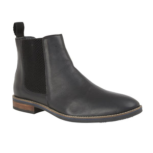 Lotus Aiden Black Leather Chelsea Ankle Boots - elevate your sole