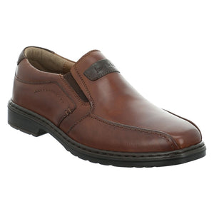 Josef Seibel Alastair 03 Mens Cognac Leather Wide Fit Slip On Dress Shoes