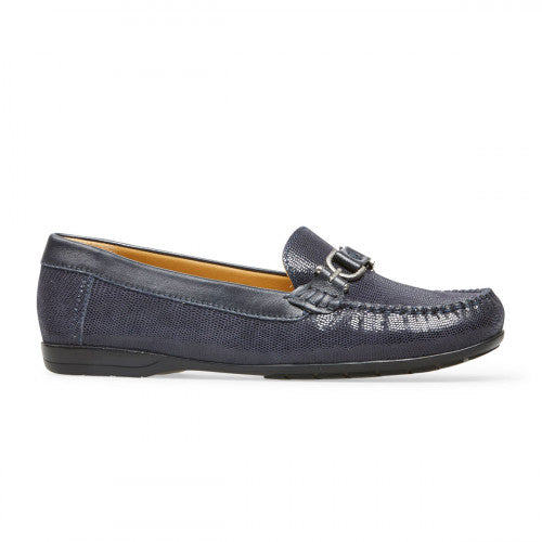 Van Dal Bliss Navy Print Loafer Leather Shoes