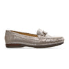 Van Dal Bliss Ladies Silver Feature Print Leather Loafers
