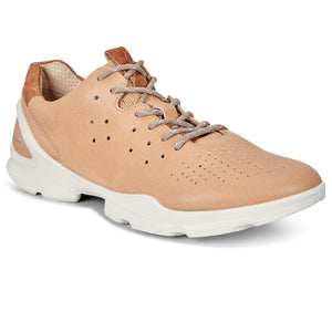 Ecco 841803 Biom Street Powder Pink Leather Lace Up Trainers - elevate your sole