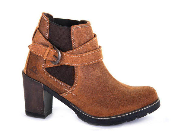 Chatham Amy Heeled Tan Leather Ankle Boots