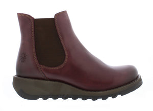 Fly Salv Ladies Rug Purple Leather Ankle Chelsea Boot