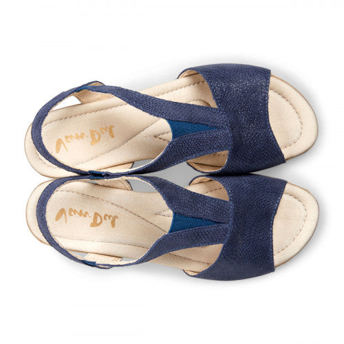 Van Dal Lincoln Navy Print Leather Sandals - elevate your sole