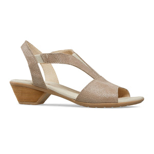 Van Dal Lincoln Taupe Print Leather Sandals - elevate your sole