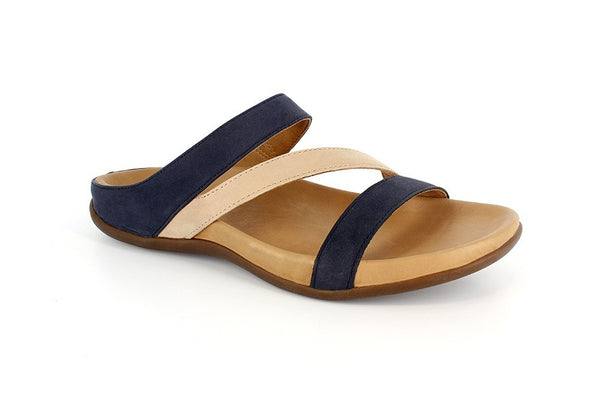 Strive Trio Navy/Roebuck Nubuck Leather Sandals