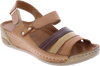 Adesso A6068 Grace Ladies Tan Leather Sandals