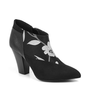 Ruby Shoo Erika Black & White Ankle Boots - elevate your sole