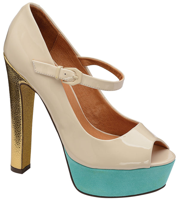 Ravel Lottie Cream Open Toe Platform Shoes