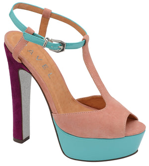 Size 6 Only - Ravel Lauren Nude Platform Shoes - elevate your sole