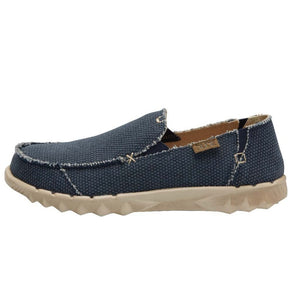 Dude Farty Natural Mens Night Blue Braided Slip On Shoes