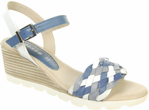 Adesso A3634 Jola Blue Multi Leather Sandals - elevate your sole