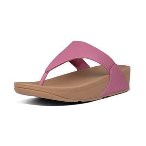 Fitflop I88-802 Lulu Ladies Heather Pink Leather Toe Post Sandals