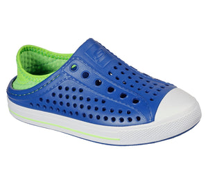 Skechers 91995L Guzman Stepz Boys Blue and Lime Slip On Shoes
