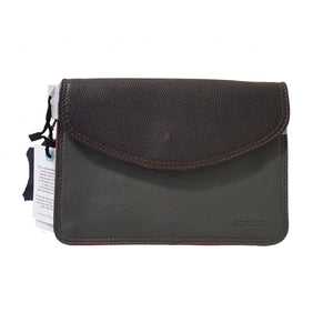 Soruka 047272 Dark Grey Black Leather Shoulder Bag