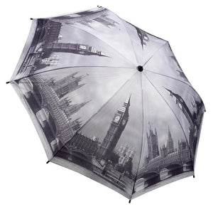 Galleria Umbrella London City Scene Folding Brolly - elevate your sole