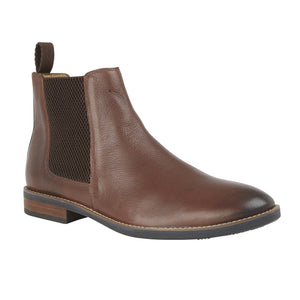 Lotus Aiden Brown Leather Chelsea Ankle Boots - elevate your sole
