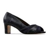 Van Dal Tomlin Ladies Midnight Feature Print Peep Toe Court Shoes