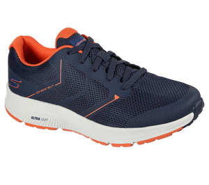 Skechers 220082 Go Run Consistent Traceur Mens Navy Orange Lace Up Trainers