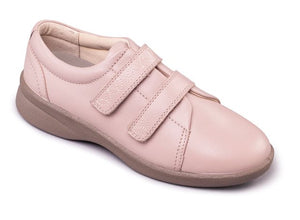 Padders 639 Revive 2 Nude Wide Fit Double Hook and Loop Strap Shoe