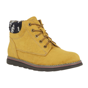 Lotus Sycamore Ladies Mustard Yellow Lace Up Ankle Boots