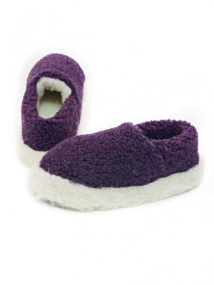 Yoko Full Unisex Purple Wool Slippers