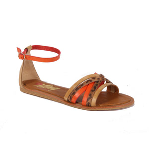 MNTG Vache Tiger Print Sandals - elevate your sole