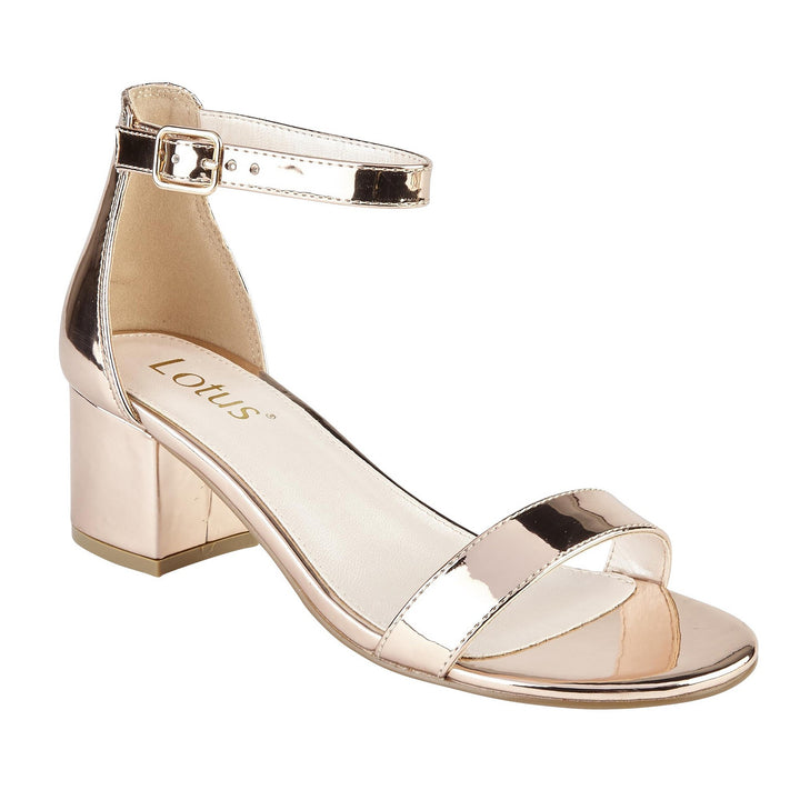 Lotus Vitus Sandals Open Toe Metallic Rose Gold Sandals - elevate your sole