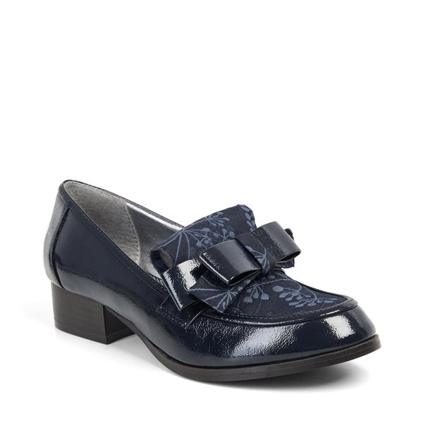 Ruby Shoo Gabriella Navy Floral Loafers