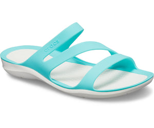 Crocs Swiftwater 203998-4DY Ladies Aqua Sandal