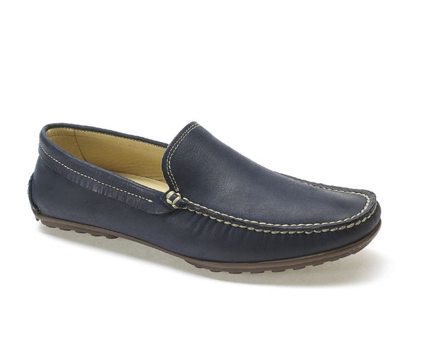 Anatomic Lucas Vintage Navy Leather Driving Shoes