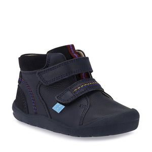 Start-Rite Burst 0757-9 Unisex Navy Leather Rip-Tape Fastening Boot - elevate your sole