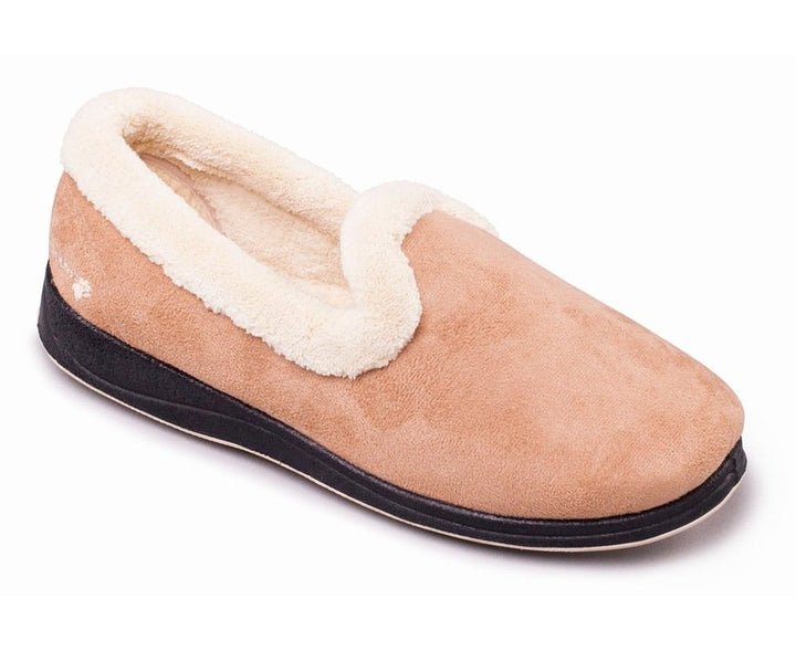 Padders Repose Camel Ladies Wide Fit Slippers - elevate your sole