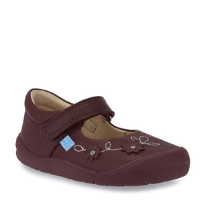 Start-Rite Flex 0758-1 Girls Wine Leather First Shoe - elevate your sole