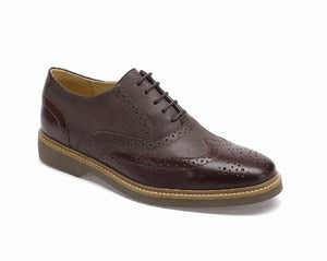 Anatomic Pilar Mens Burgundy Two Tone Leather Brogues - elevate your sole