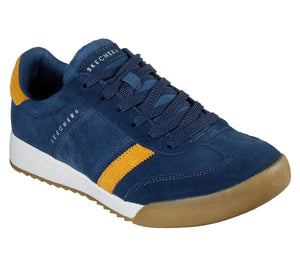 Skechers 52325 Wildview Mens Navy/Yellow Air Cooled Memory Foam Lace Up Trainer
