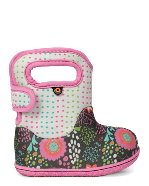 Bogs Baby Bogs Reef Grey Multi Waterproof Boots