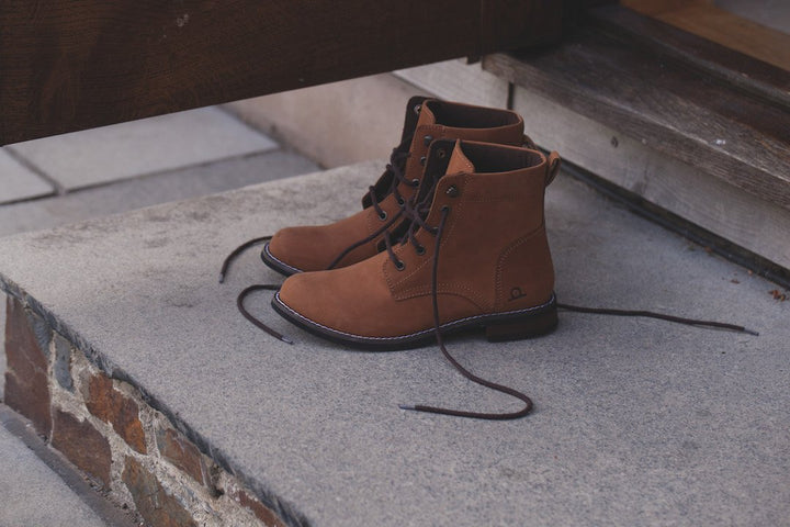 Chatham Annie Tan Nubuck Leather Lace Up Ankle Boots - elevate your sole