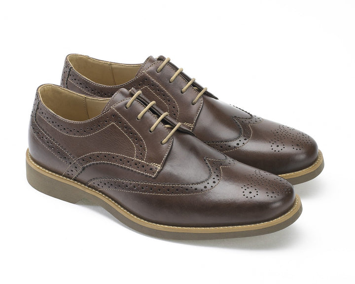 Anatomic Tucano Touch Cafe Brown Leather Brogues - elevate your sole