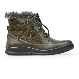 Van Dal Kinder 3194 Ladies 6501 Olive Leather Wider Dual Fit Lace Up Ankle Walking Boots E Fit