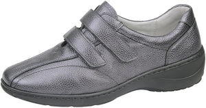 Waldlaufer 607302 Kya Grey Leather Hook And Loop Shoes K Fit - elevate your sole