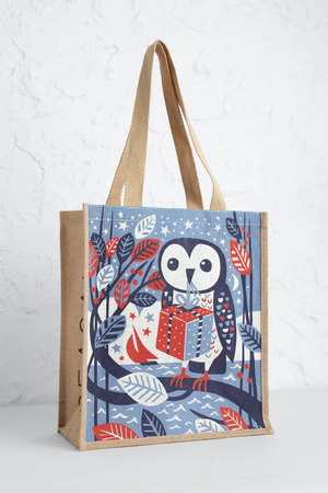 Seasalt Jute Shopper Gift Owl